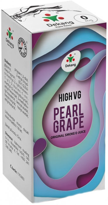 Dekang High VG Pearl Grape 10ml - 3mg (Hrozny s mátou)