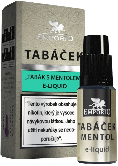 Liquid EMPORIO Tobacco - Menthol 10ml - 18mg