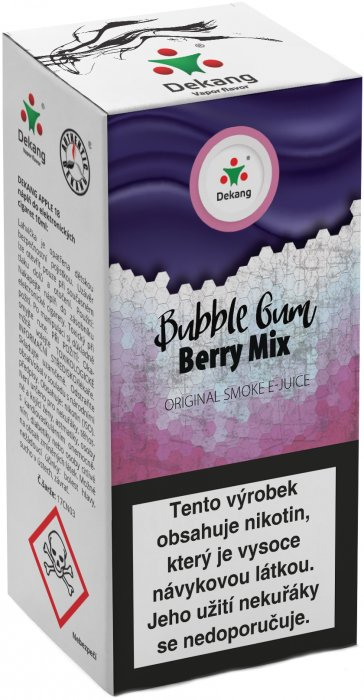 Liquid Dekang Bubble Gum Berry Mix 10ml - 6mg (Žvýkačka Lesní Plody)