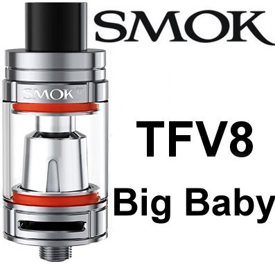 Smoktech TFV8 Big Baby clearomizer 5ml Silver