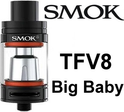 Smoktech TFV8 Big Baby clearomizer 5ml Black