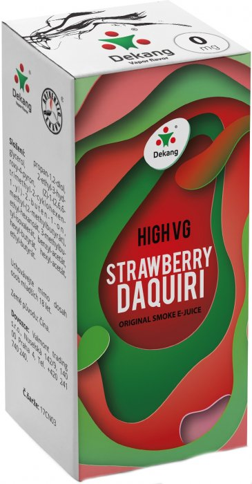 Dekang High VG Strawberry Daquiri 10ml - 0mg