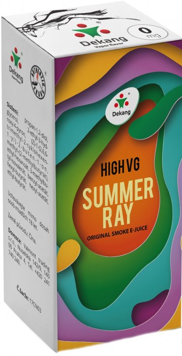 Dekang High VG Summer Ray 10ml - 0mg (Ovocná směs)